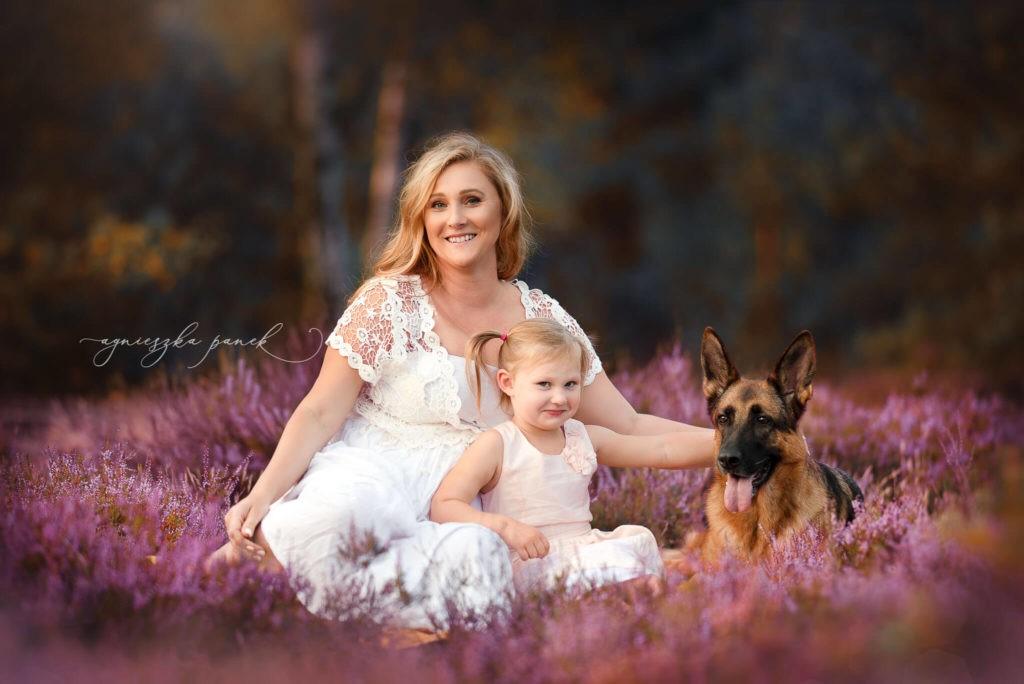 sesja rodzinna i dziecięca w warszawie na wrzosowisku